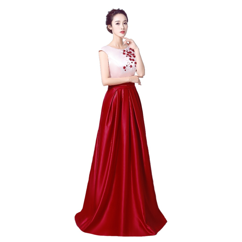 robe de soiree Κόκκινο κρασί Κρύσταλλο - Ειδικές φορέματα περίπτωσης - Φωτογραφία 3