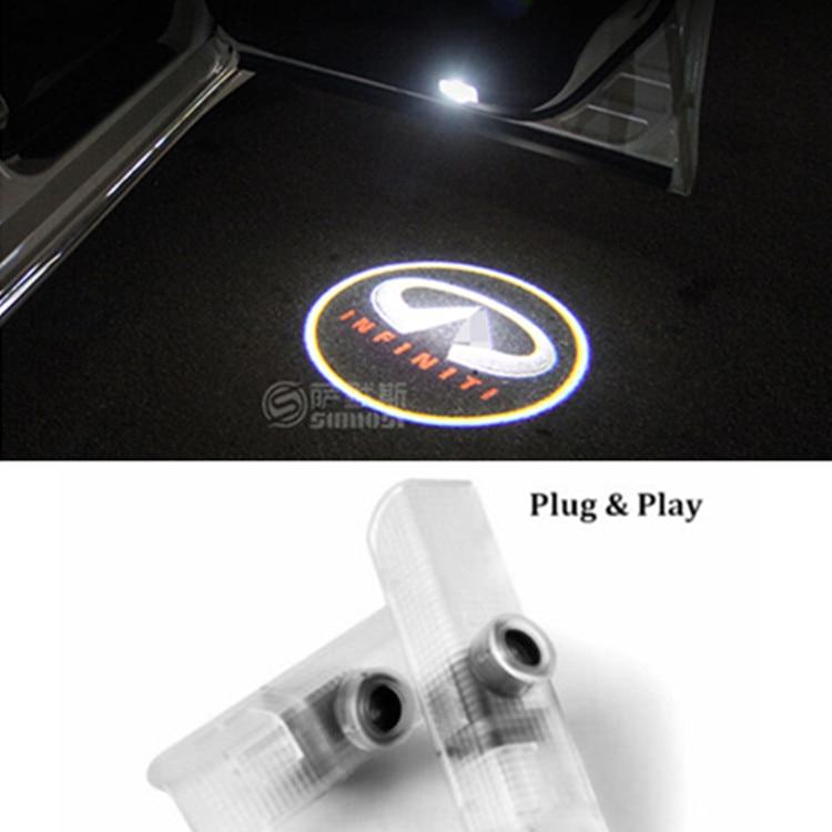 2x Led Car Door Courtesy Laser Projector Logo Ghost Shadow