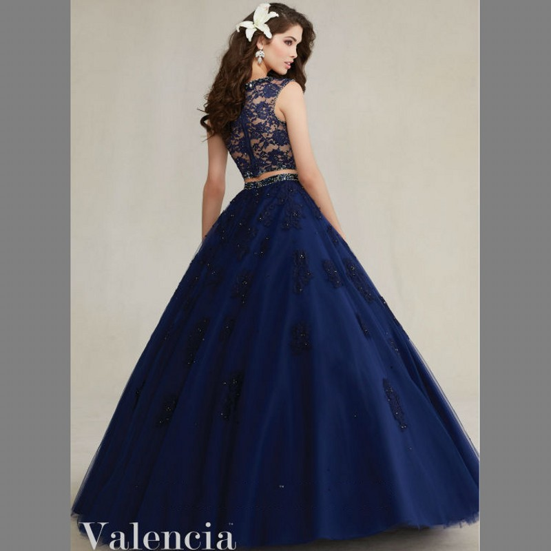 Aliexpress.com : Buy Midnight Blue Quinceanera Dresses Two Pieces ...