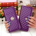 2015 Hot Sale Women Leather Wallets Flower Purse Wearable Wallet Leather Solid Color Coin Purse Ladies Handbag Day Clutch Bag