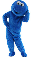 Fast Free Shipping Sesame Street Blue Cookie Monster Mascot Costume Cheap Elmo Mascot Adult Character Costume