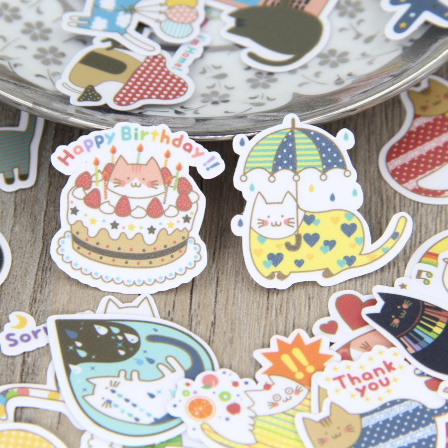 40 Pcs Meng Cat Creative Sticker For Laptop Phone Luggage Skateboad Car Stying Bicycles Motorcycle Graffiti Decal Paper Stickers