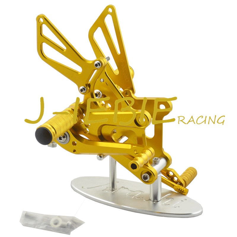 CNC Racing Rearset Adjustable Rear Sets Foot pegs Fit For Honda CBR250R CBR250 R 2011 2012 2013 2014 2015 GOLD motorcycle fz1 fz8 adjustable rearset rear set foot rests foot pegs for yamaha fz1 2006 2014 and fz8 2010 2011 2012 2013 new