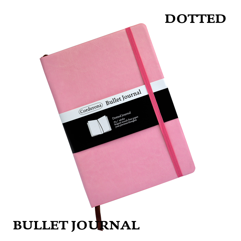 где купить Dot Grid Soft Cover Candy Color A5 PU Notebook Elastic Band Travel Puntos Dotted Bullet Journal Bujo Pointed Writing Pads по лучшей цене