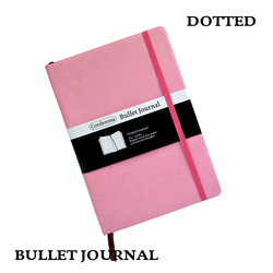 Dot Grid Soft Cover Candy Color A5 PU Notebook Elastic Band Travel Puntos Dotted Bullet Journal Bujo Pointed Writing Pads