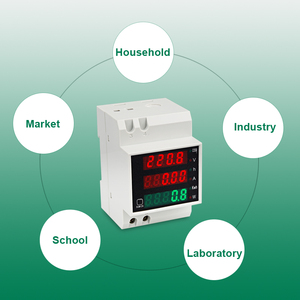 Image 5 - LEDSMITH D52 2047 DIN rail Multi function Digital Meter AC 80 300V 0 100A Active Power Factor electric energy Ammeter Voltmeter