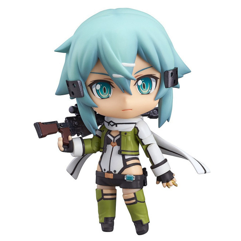 Nendoroid Anime Sword Art Online II SAO Asada shino Q Version PVC Action Figure Collection Model Toy Christmas Gifts 10cm lovely q version 10cm sword art online anime hand model kirito sao movable toy doll action figure cartoon furnishing articles