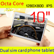 10 inch tablet 1280X800 IPS octa core ram 4GB ROM 32GB 5.0mp 3 G android5.1 Tablet PC card phone call mtk6592 dual sim GPS 10