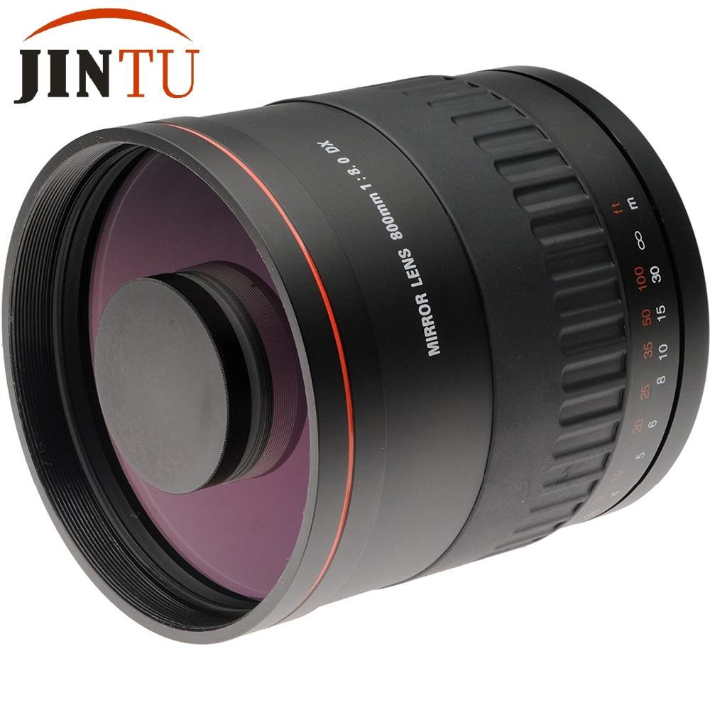 JINTU 900mm f/8.0 Miroir Téléobjectif Caméra Mise Au Point Manuelle Lentille + T2 Adaptateur pour NIKON D5500 D3500 D70 D90 D80 D700 D3400 D5200 D7500