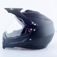 Preto fosco capacete da motocicleta de Corrida rosto cheio de Moto cross road motorcross off road capacete de alta qualidade venda quente