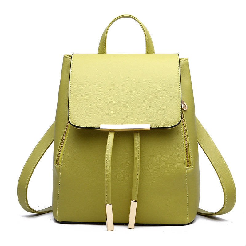Fashion Green PU Women Backpacks Casual Traveling Bag Adjustable Straps Girl's Schoolbag Zipper lacywear u 4 tal