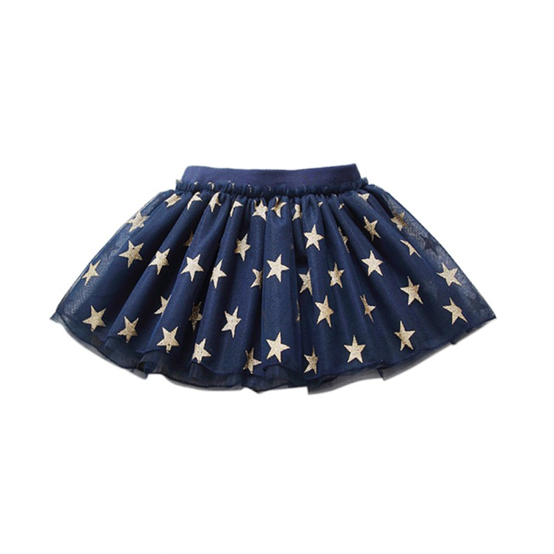 Summer Baby Girl Skirt Star Printed Kids Tutu Skirts Dancing