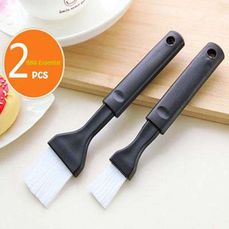 2PCS Retractable Barbecue Brush Oil Brush, Easy to Clean Long Handle High Temperature Cooking Brush.