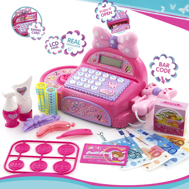 New Multi-functional Cash Register Toy Educational Pretend Play Operated Toy Working Cal ...