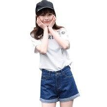 Уличная одежда с высокой талией широкие горячие женские джинсы брюки корейский стиль 2019 летние