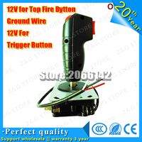 Grap Arcade flight yoke stick Joystick 8 way joystick with two trigger and top fire buttons