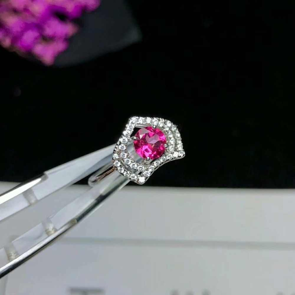 Shilovem 925 כסף סטרלינג טבעת טבעי טופז ורוד אישה חתונה פתוח קלאסי 2018 חדש תכשיטים gitf yhj0505agfb