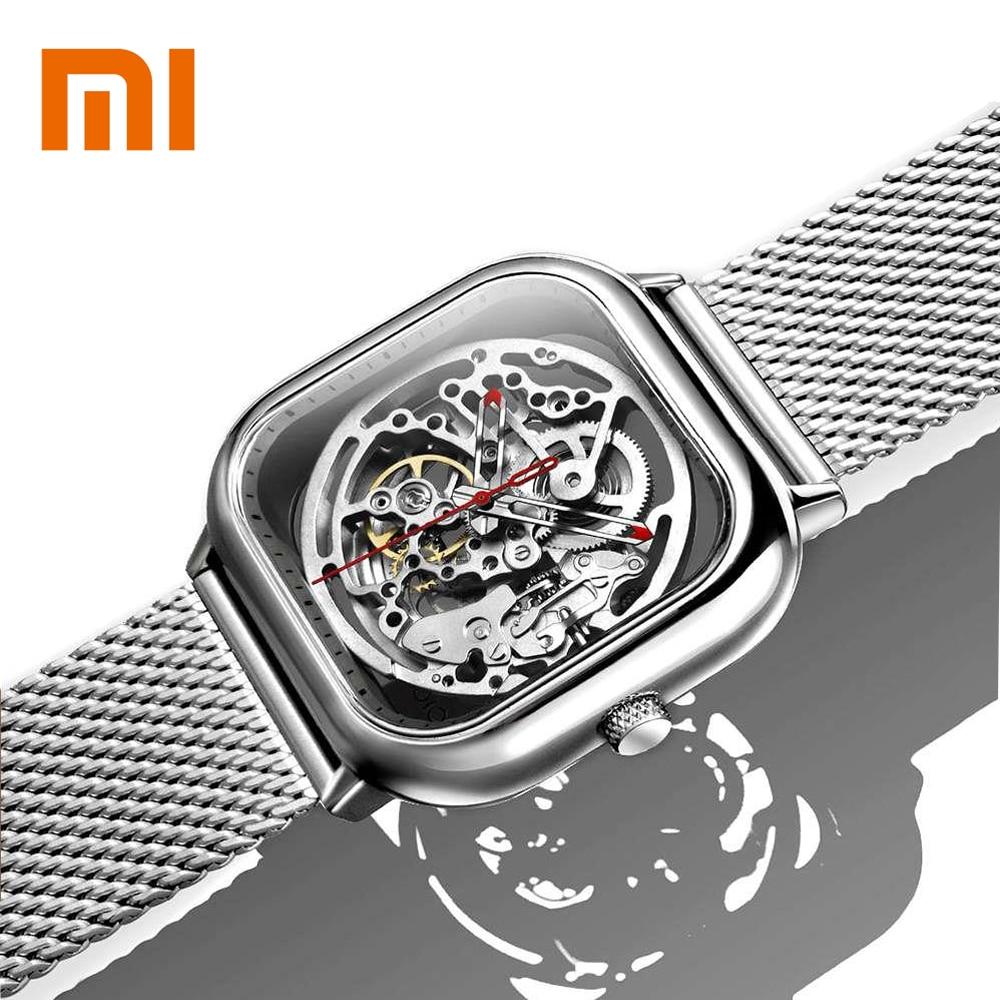 Original Xiaomi CIGA Wristwatch Hollow Watches Mechanical Stainless Steel Braided Band Automatic Mechanical Core Men SmartWatch