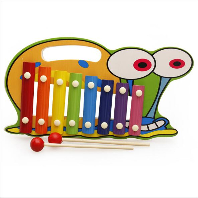US $12 77 28% OFF|Wooden Hand piano Animal character Octave piano Music  Enlightenment Artifacts brain game Children's color recognition toys-in Toy