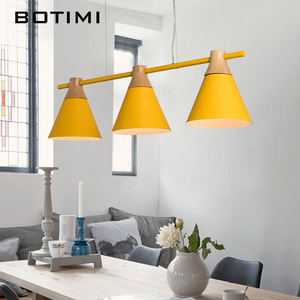 Image 4 - Nordic New Design Pendant Lights Wooden Hanging Light For Dining Table Colorful Bar Lamp Indoor LED Lighting Fixtures
