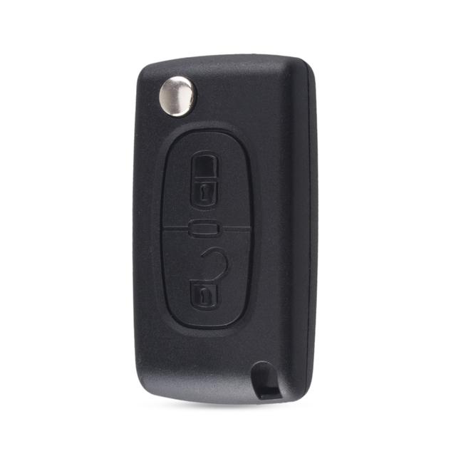 KEYYOU 2 przyciski Flip składany klucz Case puste powłoki dla Peugeot 107 207 307 307S 308 407 607 2BT