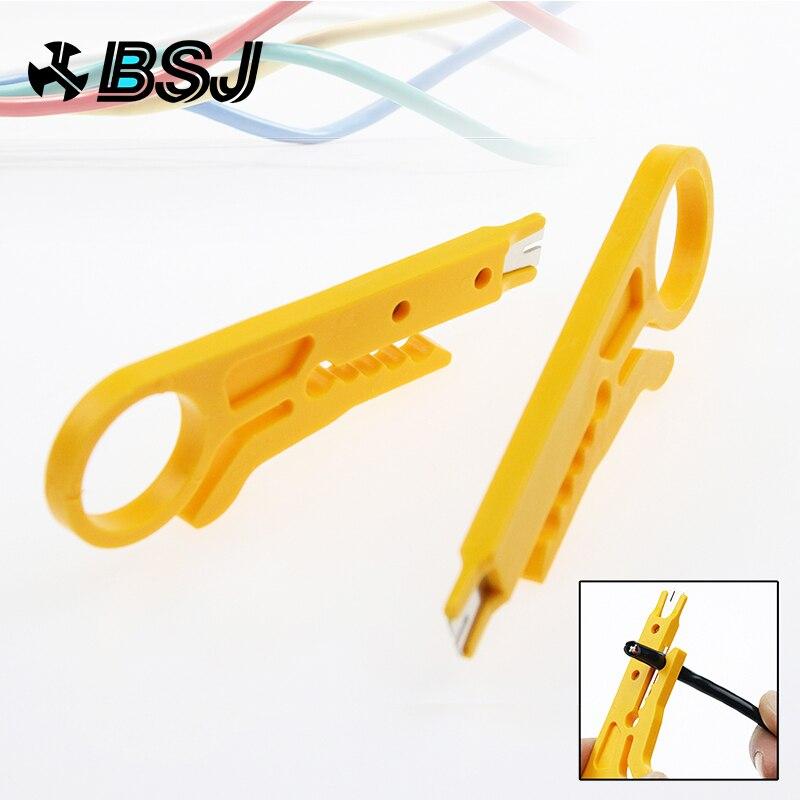 Werkzeuge Gut Tragbare 2 Teile/los Mini Draht Stripper Messer Netzwerk Kabel Crimpen Zangen Hand Werkzeug Abisolieren Draht Cutter Multi Werkzeuge Hand Werkzeuge GläNzend