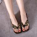 2015 New Fashion Summer Wooden Clogs Japanese Geta Women Lady Sandals Flip Flops Comfort Paulownia Wood