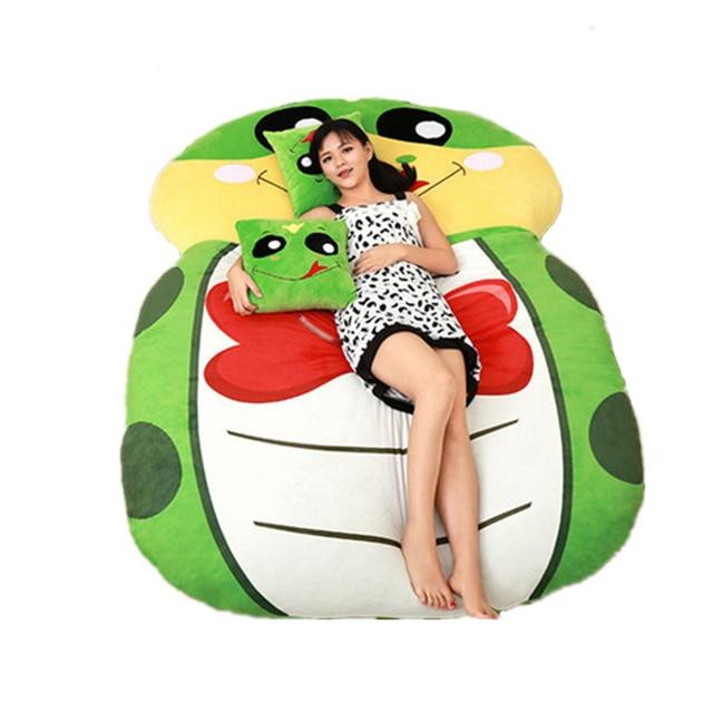 Fancytrader Giant Plush Cartoon Animal Snake Tatami Stuffed Soft Beanbag Bed Carpet Mat Sofa