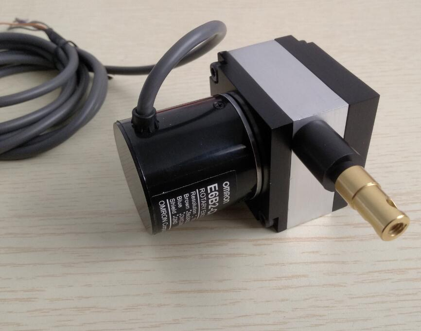 Capteur de déplacement de corde de traction 100mm 500mm 1000mm pour encodeur OMRON