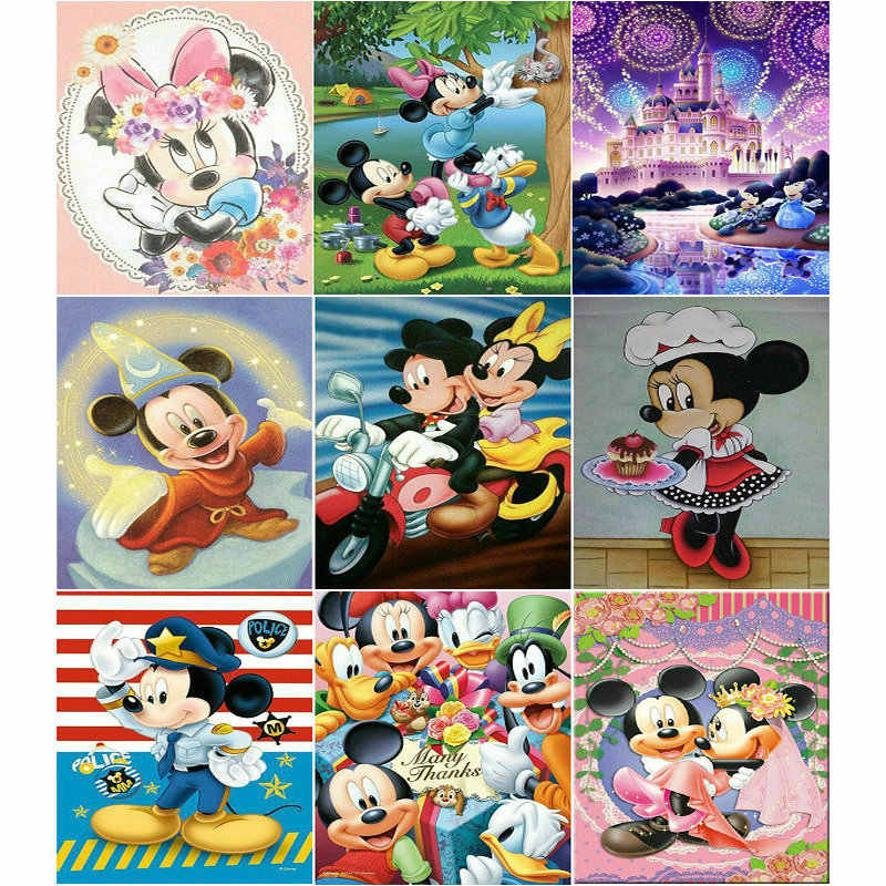 Full 5D DIY Art Craft Rhinestone Magic Mickey Embroidery Art Home Decor Hobby