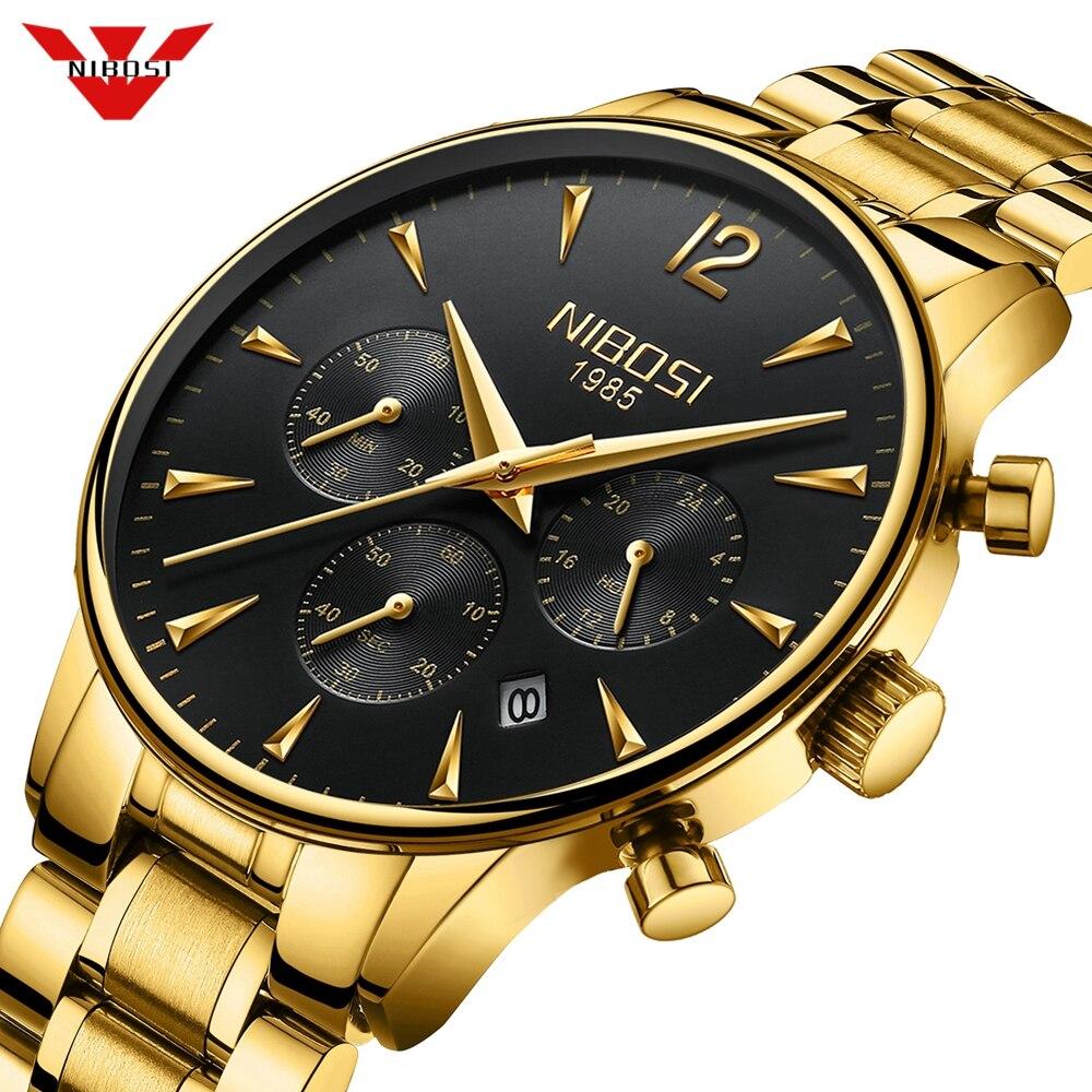 NIBOSI marque de luxe Montre hommes Sport montres étanche Quartz mâle horloge militaire Montre-bracelet Relogio Masculino Montre 2019 Saat
