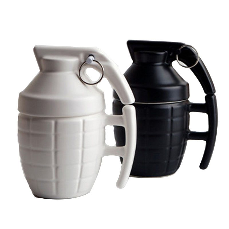 Creative Grenade Coffee cup Practical Water cup with Lid Funny Gifts Granada creativa taza de cafe