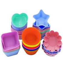 New Silicone Mold Heart Cupcake 6pcs Cake Muffin Baking Nonstick and Heat Resistant Reusable Molds DIY