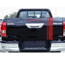 где купить 1PC tailgate laser radiation line racing styling graphic car sticker for TOYOTA HILUX revo or vigo по лучшей цене