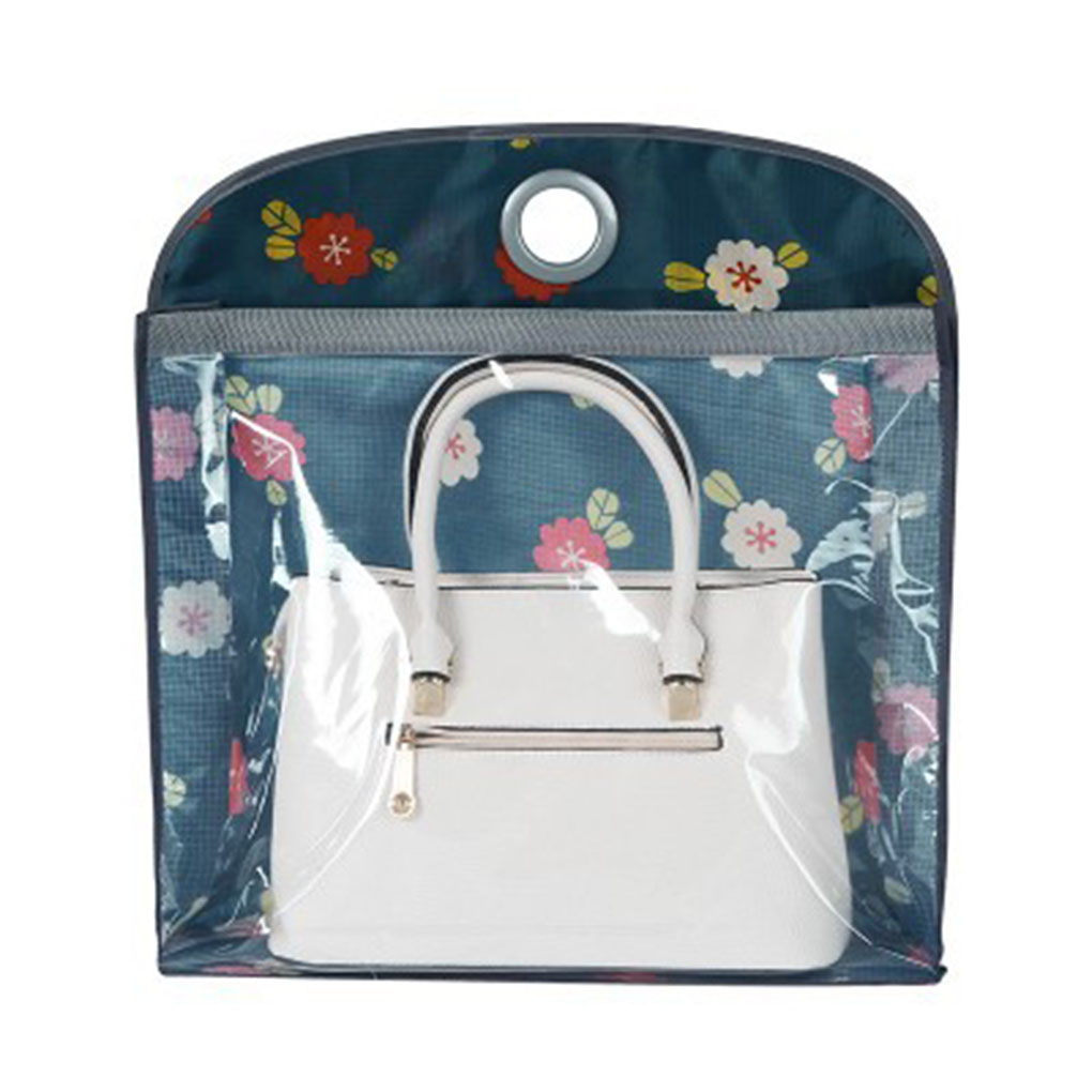Double-sided Wardrobe Storage Bag Transparent PVC Wall Hanging Multi-layer Dustproof Pouches