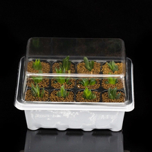 Вставка размножения яслей рассады пусковой лоток 12 отверстий 3 шт./компл. растительного семени растут коробки