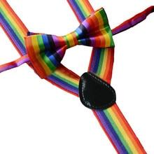 Suspenders Pride Tie Baby-Boy-Girl And Braces Bow-Tie-Set Festival Rainbow Little-Gift