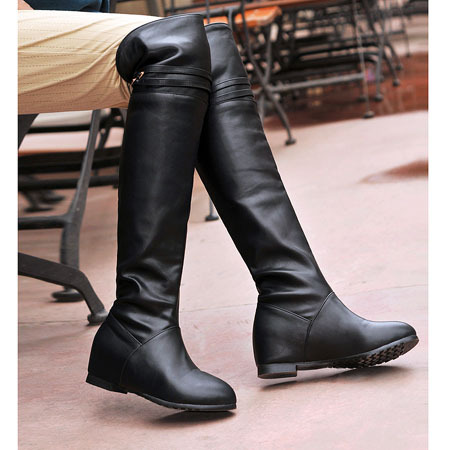 High Quality Flat Knee High Leather Boots Promotion-Shop for High ...