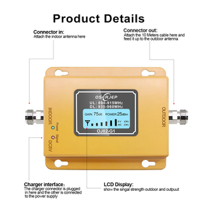 Image 3 - Gsm repeater 2g 3g band8 GSM 900MHz Amplifier 20Dbm lcd Mini Mobile Phone Signal Booster Repeater 900 cell Repetidor GSM 980