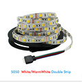 5m 5050 Led Strip Light DC12V Warm white / White CCT Waterproof /Non Waterproof 2 in 1 Led 60led/m indoor outdoor decoration