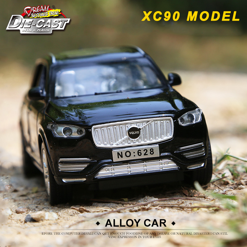 Diecast 1:32 Scale Metal Car Model VOlVQ XC90, Boys/Kids Toys With 6 Openable Doors/Pull Back Function/Music/Gift Box