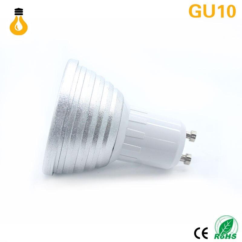 E27 GU10 E14 MR16 Led Dimmbare RGBW Led lampen 9 Watt AC220V bunte ...
