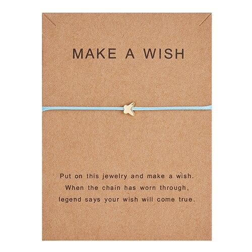 Регулируемый браслет с бумажными карточками в форме бабочки, звезды, короны, Круглый тканый браслет ручной работы, Простые Модные женские ювелирные изделия, подарки - Окраска металла: 4