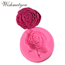 WISHMETYOU Roses Flowers Silicone Soap Mold Crafts Handmade Cake Bread Mousse Jelly Making Sugar Wedding Decoration