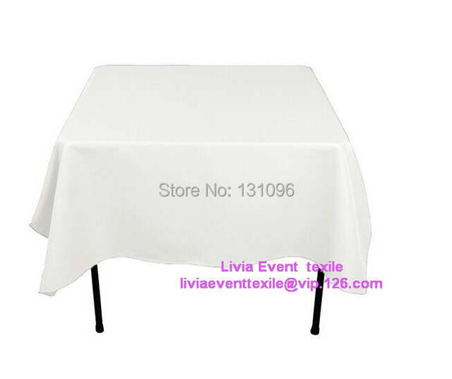 5pcs Table Cloth 210cm Square Polyester Plain Table Cloth For Wedding Event &Party &Hotel &Resturant Decoration