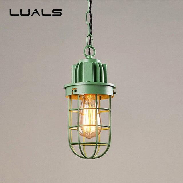 Loft pendant lamp retro lights iron suspension luminaire creative industrial light fixture edison hanging lamps pending