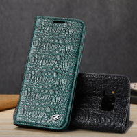 Luxury Genuine Leather Case For iPhone 7 Plus 6 6s Plus Crocodile Cover Magnetic Flip Phone Case For Samsung Galaxy S8 / S8 Plus