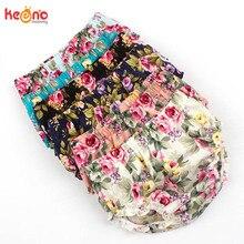 Летние хлопковые блумеры с цветочным принтом для маленьких детей; шорты для маленьких девочек; пляжные трусики для новорожденных; одежда для малышей