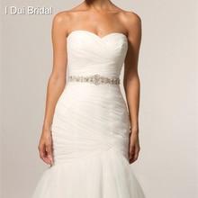 Bridal Sash Rhinestone Applique Crystal Pearl Rhinestone Belt Trim Wedding Bride Tie Backs New Style