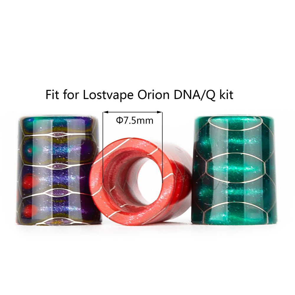 Vapesoon high quality replacement resin drip tip for Lost Vape Orion DNA GO Pod Kit with 7.5mm diamter fast shipping
